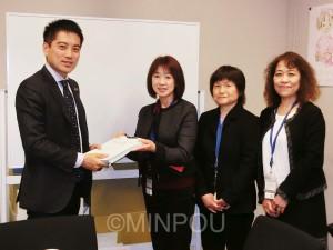 学校図書館の充実と正規の学校司書の配置を。全日本教職員組合の要請を受ける(3月9日)