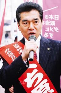 くち原亮候補(東大阪市)