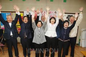 高槻=前列右から出町ゆかり、強田純子、中村玲子、宮本雄一郎の4氏