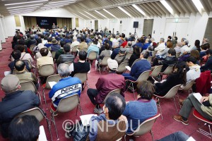 市民と野党共同で新しい政治をと開かれた泉州市民連合結成の集い=18日、貝塚市内