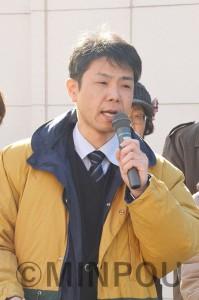訴える江村市長候補