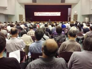 各地の経験が紹介された「楽しく元気の出る支部活動交流会」=5月13日、大阪市港区内