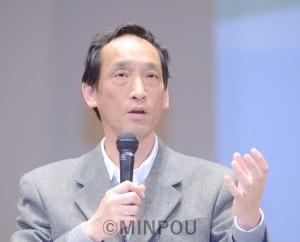 講演する中山教授