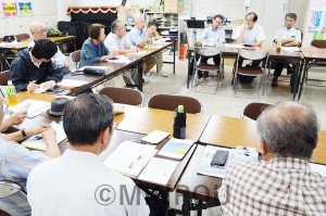 大阪革新懇の第7回代表世話人会=8日、大阪市北区内