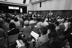 3千万署名推進を呼び掛けた憲法大学習会=12日、大阪市中央区内