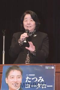 あいさつする石田弁護士