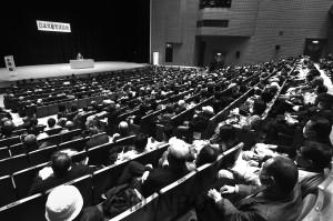 小池書記局長を迎えて開かれた日本共産党演説会=1月25日、八尾市内
