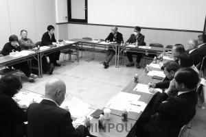 大阪革新懇が開いた2019年度第1回代表世話人会=9日、大阪市北区内