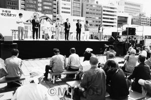 参院予定候補が政策を語った中之島まつりのトークイベント=3日、大阪市北区内