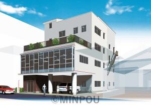 新府委員会ビルの完成予想図