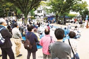 草の根の力で暮らしと平和を守る希望の政治をと、多彩なプログラムで日本共産党の活動を交流=10月26日、高槻市内