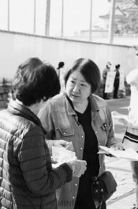 市立幼稚園・保育園の存続へ市民と対話=19日、岸和田市内
