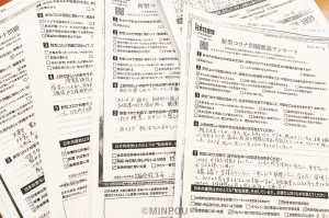 日本共産党府委員会の緊急アンケートには切実な声が
