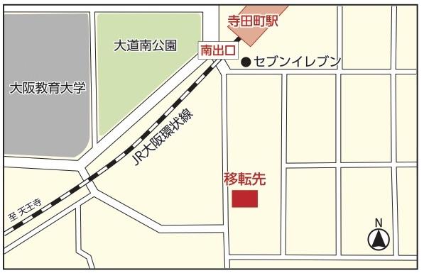 仮事務所本館の地図