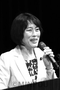 訴える田村智子副委員長=7月23日、箕面市内