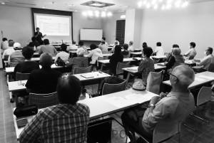 地域住民の命と健康を支える医療と社会保障を守り発展させようと開かれた集会=9月26日、茨木市内