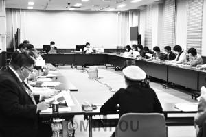 日本共産党府議団が開いた府民団体との懇談会=11日、府庁内