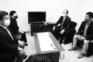 立憲府連新役員訪問minpou