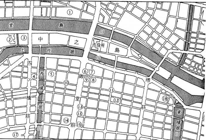 1949年前半ごろの占領軍施設